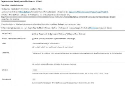 Multibanco (Ifthen Software gateway) for WooCommerce (WordPress)