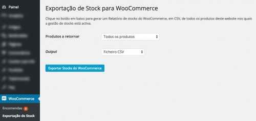 Stock Exporter for WooCommerce